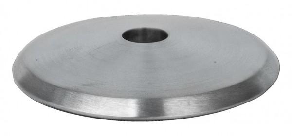 Ronde ø58/5mm V2A, gewölbt,gefast,poliert