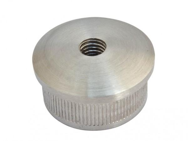 Endkappen V2A, 48,3/2mm, gewölbte Form, M8