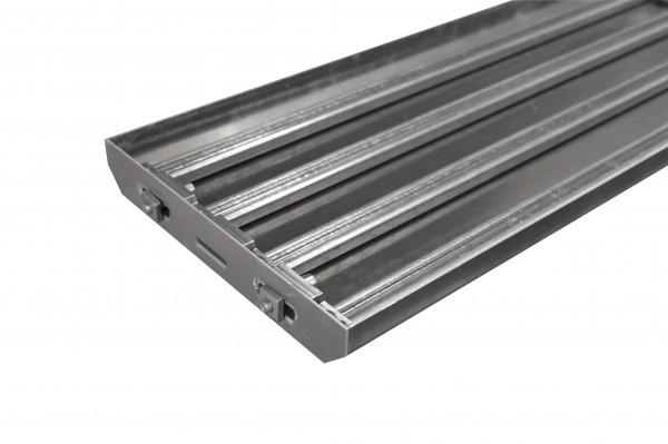Stufenwanne 800x307mm Aluminium eloxiert