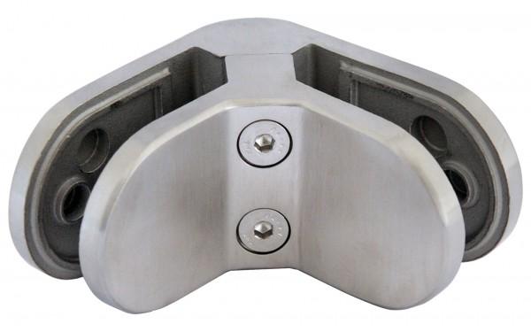 Glashalter V4A, über Eck, 80/80/30mm,Aisi 316