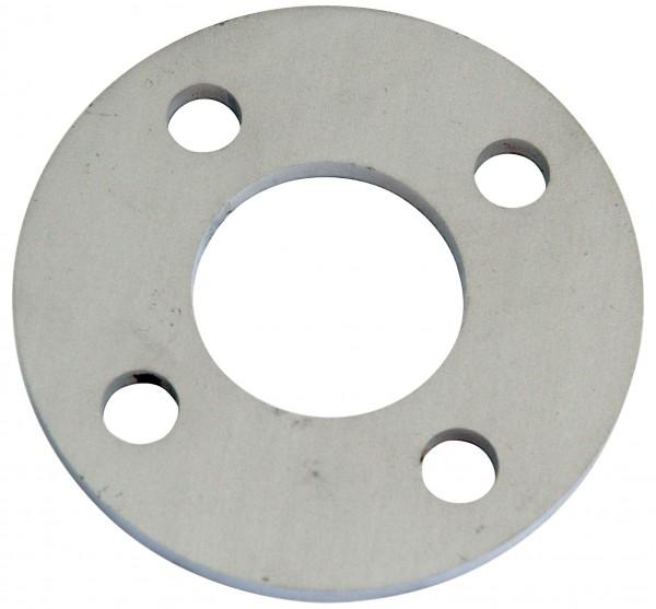 Ankerplatte roh ø 80/6mm, V2A, für Rohr 33,7mm