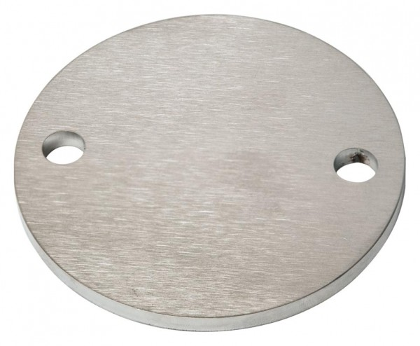 Ankerplatte ø80/6mm V2A, 2-Loch, Laserschnitt
