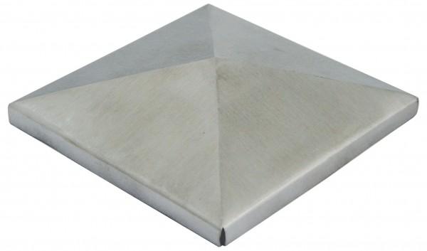 Zierkappe V2A, Korn 320 geschliffen, Größe 80x80mm