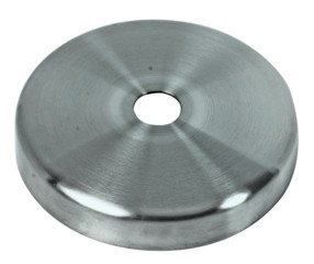 Abdeckrosette V2A ø 70mm, Bohrg. 12,5mm