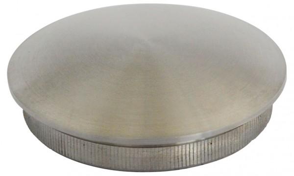 Einschlag-Kappen - V2 A massiv, für Rohr 42,4/2mm,