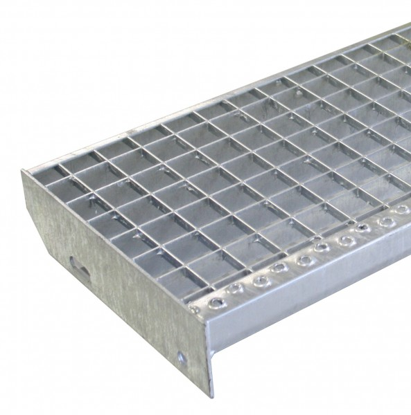 Gitterroststufe 1000x270mm, Eisen, feuerverzinkt