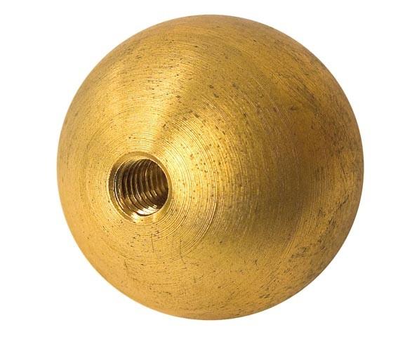 Kugel Messing, massiv, m.Sacklochgewinde, ø20mm