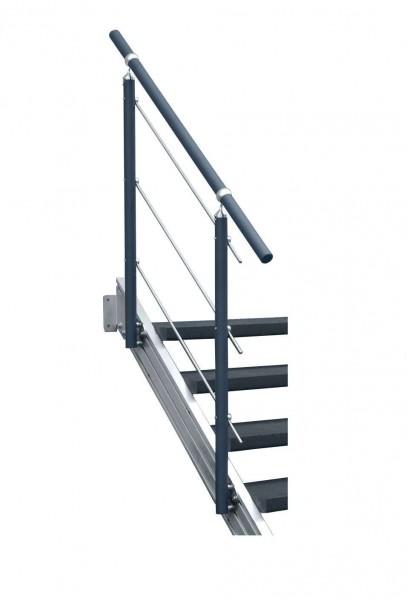 Aluminium-Geländer anthrazit 3 Stg.