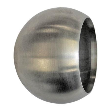 Endkugel hohl, V2A, für Rohr 48,3mm,