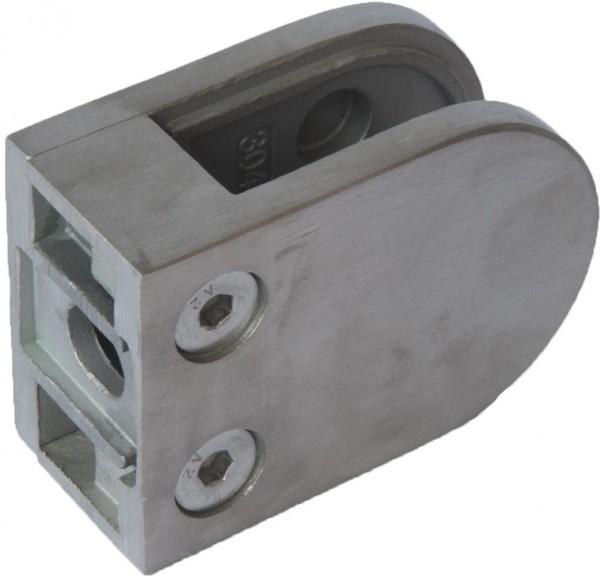GlashalterV4A,mit Sicherungsstift, 63x45mm, flach
