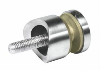 Glas-Punkthalter V4A, ø30mm, f. Rohr 42,4mm, M8