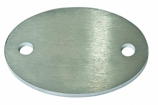 Ankerplatte oval 110x75, V2A,Stärke 6mm,Loch 11mm