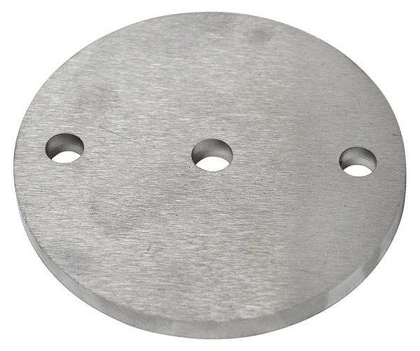 Ankerplatte ø100/6mm Edelstahl 1.4301, 3-Loch,