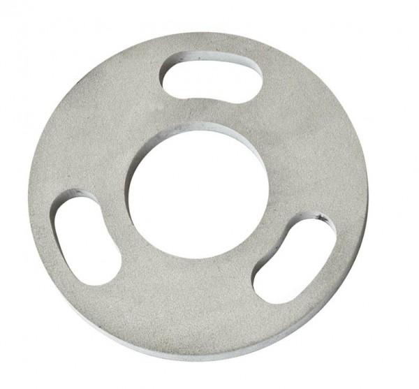 Ankerplatten ø80/6mm, für Pfostenbefestigung V2A,
