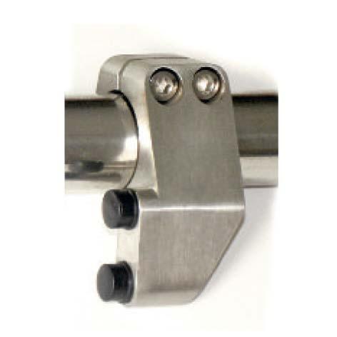 Türstopper für Rohr 25 mm ø, rechts, 60x24mm
