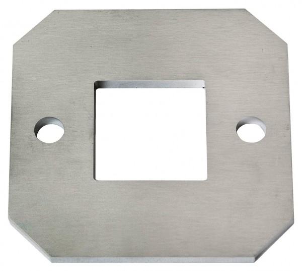Ankerplatte 100/100/6mm V2A, einseitig geschliffen