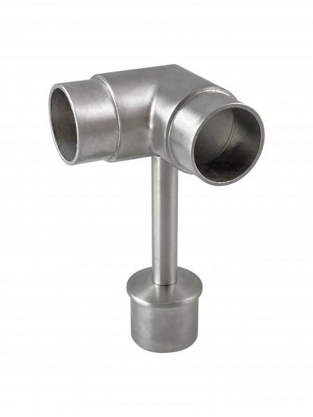 Rohraufsatz mit Eckverbinder V2A für Rohr 42,4/2mm