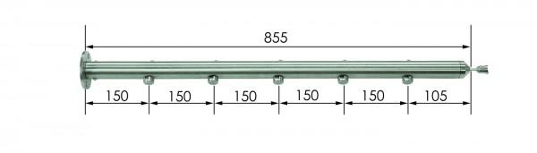 Geländerstab Ø42 x 855mm, Edelstahl V2A,