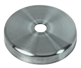 Rosette V4A rundeAusführung 76x12,3mm f. Loch 12,5