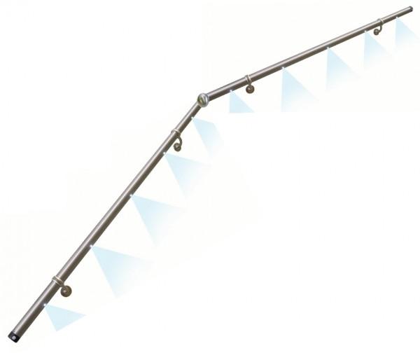 Licht-Handlauf LH13 m.Eckverb.,ø42,4x3000mm Länge,