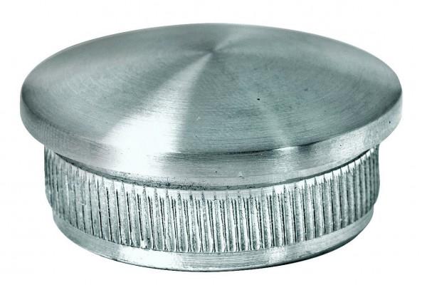 Endkappe, V2 A, gewölbt+gerändelt, f.Rohr 30/2mm