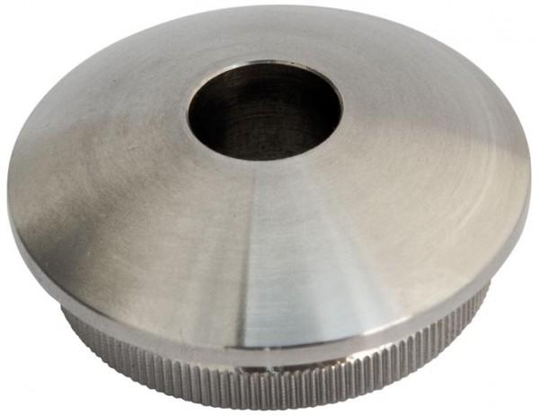 Rohr-Endkappen V2A, f.Rohr 42,4/3mm, Loch 12,1mm