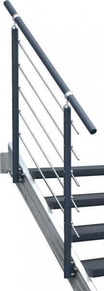 Aluminium-Geländer anthrazit 5 Stg.