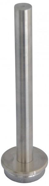 Rohraufsatz, V2 A, für Rohr 33,7/2mm, gerändelt,