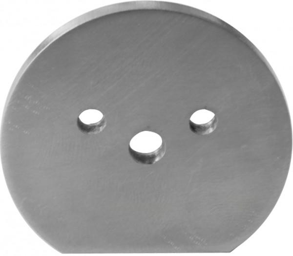 Endkappe V2A ø42 mm für Holzhandlauf mit Nut