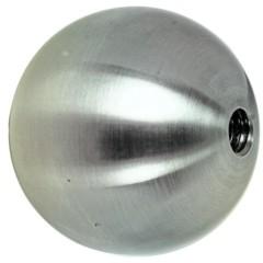 Hohlkugel satiniert, ø50mm, M8, m. Sackgewinde,V2A
