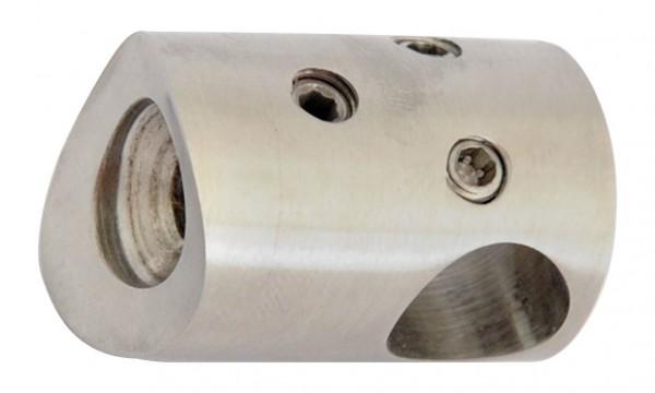 Traversen-Halter V2A, 30x22mm, Rohr 42,4mm