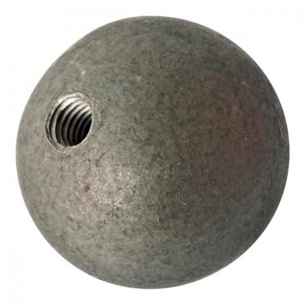 Kugeln, Eisen roh, mit Gewinde, ø 60mm, Loch M8