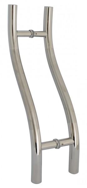 Stossgriffe für Glastüren, Edelstahl V2A, L 475mm