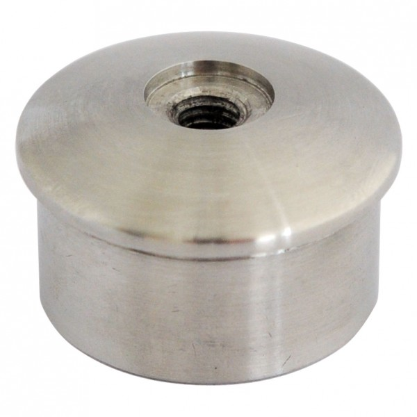 Kappen, Edelstahl V2 A, Gewinde M8,f.Rohr 48,3/2mm