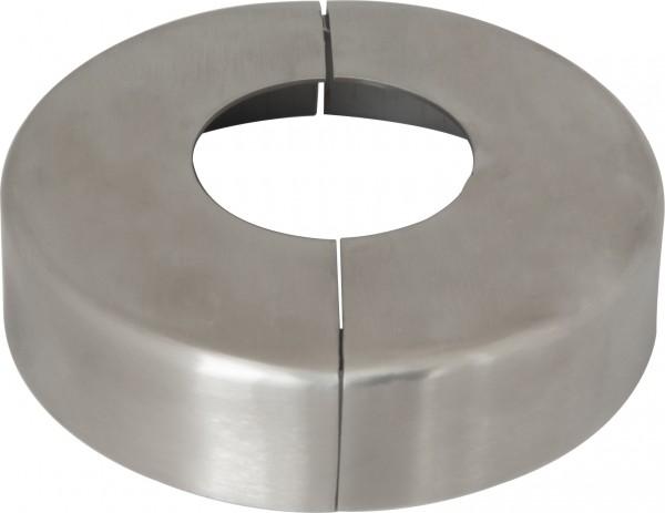 Rosette V2A ø105x25mm für Rohr ø42,4mm 2-teilig