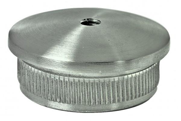 Endkappe, V2A massiv, 42,4/2mm, m.Gewinde M8,