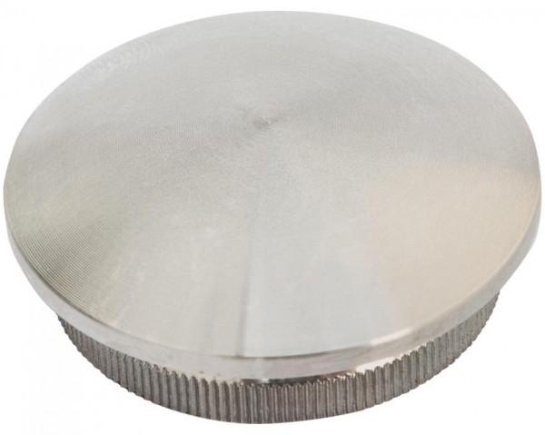 Endkappe V2A, f. Rohr 42,4/3mm, gewölbt, Aisi 304