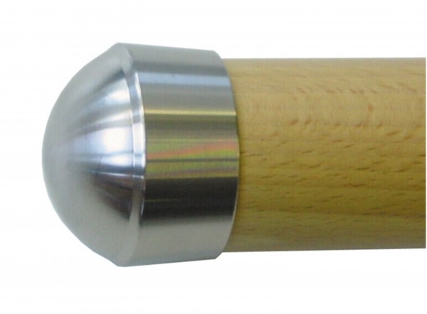 Endkappe V2A geschliffen für Holzhandlauf ø42