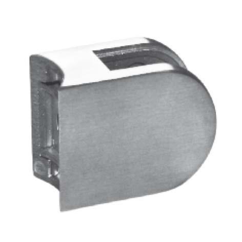 GlashalterV4A,m.Sicherungsstift, 63x45mm,Rohr 33,7