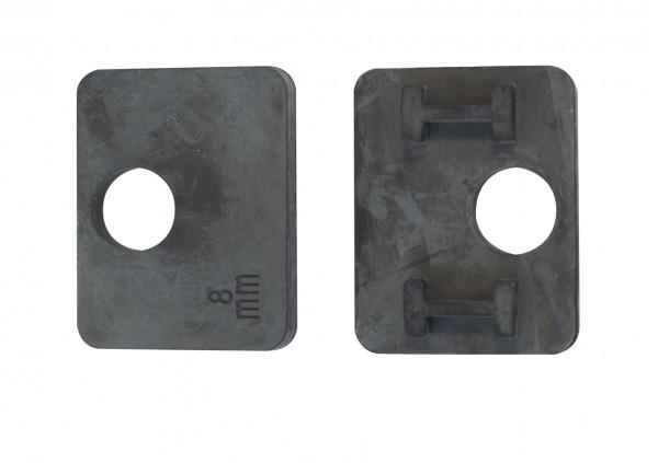 Gummieinsätze Glashalter 52x52 für Glas 8mm