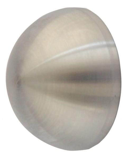 Endkappe Edelstahl, Korn 240, V2 A, ø 42,4mm