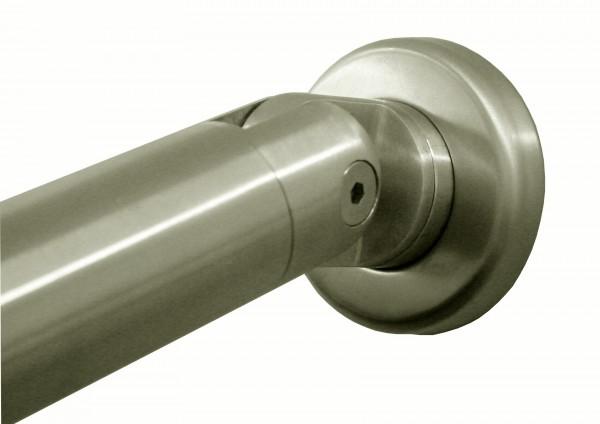 Wand-Endhalter V2A, mit verstellb. Winkel 180°-90°