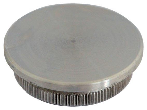 Endkappe V2A, f. Rohr 48,3/4mm, flach, Aisi 304