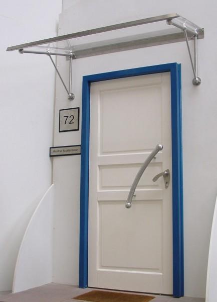 Vordachsystem Modell Inn, Acrylglas klar,