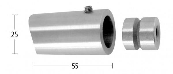 Rohrhalter m.Feststellschraube,V2A,f.Rohr 33,7mm