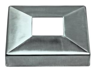 Viereck-Rosettenkappe V2A, Loch 40/40mm,