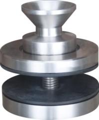 Bodenflansch für Rohr 33,7 / 2mm, 60mm, ø 35mm