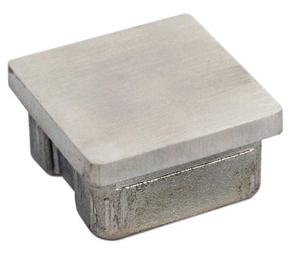 Endkappen Edelst. V2A,Guss hohl, f.Rohre 40/40/3mm