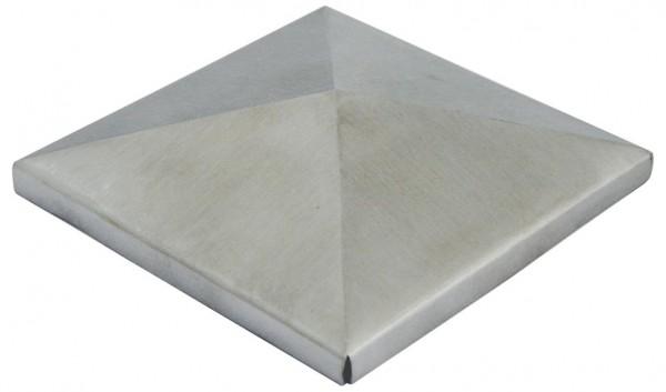 Zierkappe V2A, Korn 320 geschliffen,Größe100x100mm