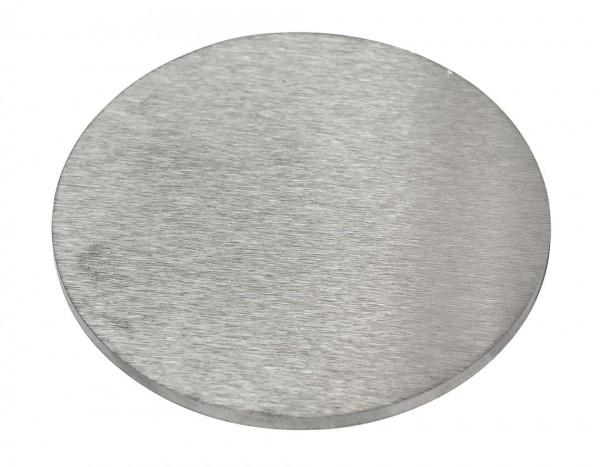 Ronde100/10mm V2A,einseitig geschliffen,ohne Loch,